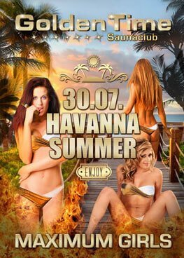 Havanna Summer Party am 30.07.2016 im GoldenTime FKK Saunaclub, Brüggen