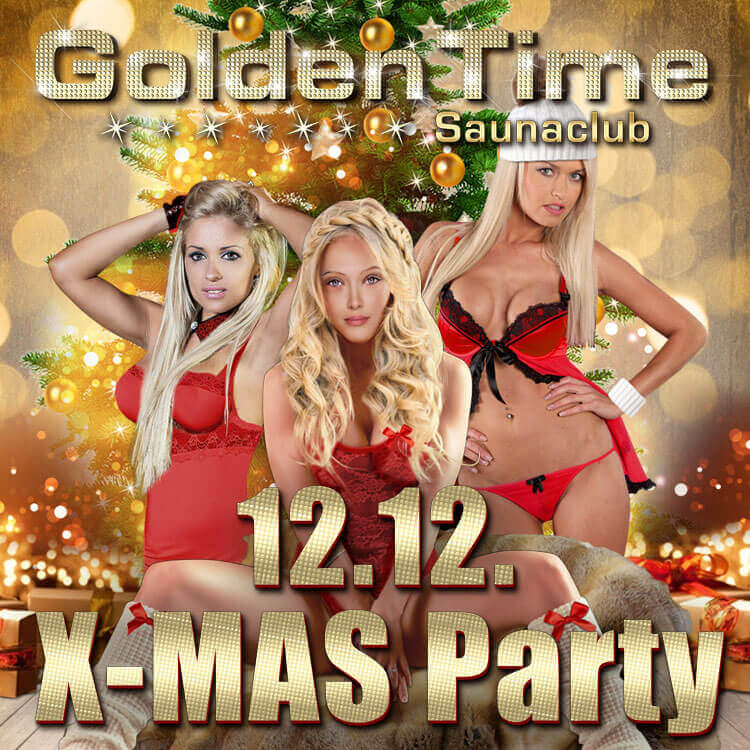 X-MAS PARTY am 12.12.2016 im GoldenTime FKK Saunclub