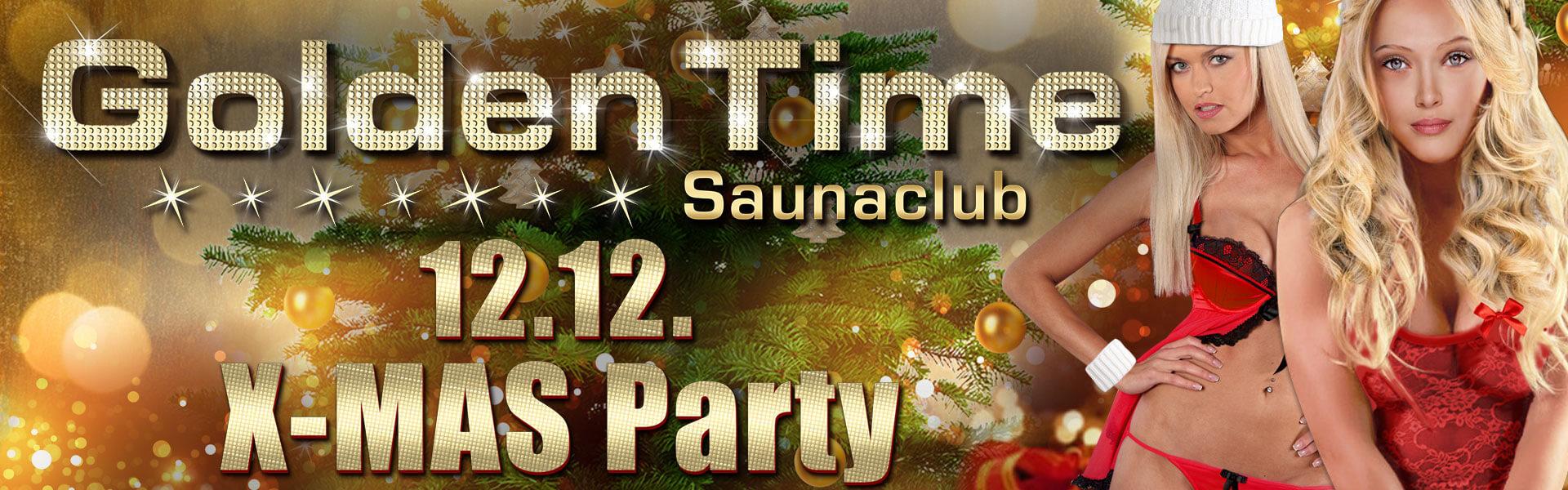 X-MAS Party am 12.12.2016 im GoldenTime FKK Saunaclub, Brüggen (NRW)