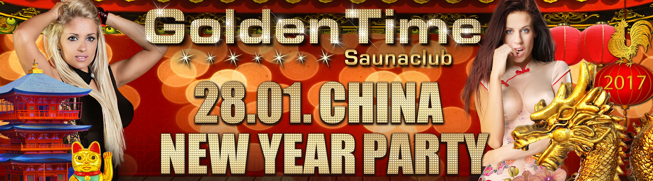 China New Year Party am 28.01.2017 im GoldenTime FKK Saunaclub